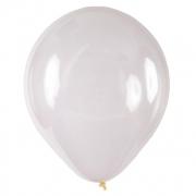 50 Unidades - Tamanho 9 - Balão Bexiga Transparente Cristal