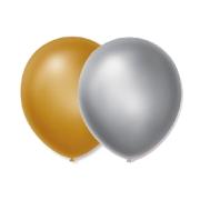 Balão Bexiga Ano Novo Dourado E Prata N9 - 100 Unidades