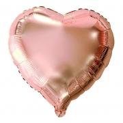 Balão Metalizado Coração rose gold 45cm