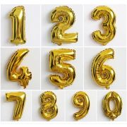 Balão Metalizado Dourado 80 cm