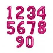Balão Metalizado Número Pink - 40cm