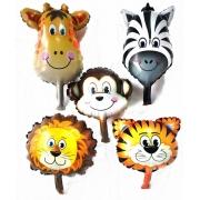 Balão metalizado safari animais centro de mesa