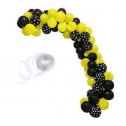 Kit de Balões para arco Desconstruído preto e amarelo