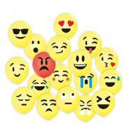 Bexiga Emoji Redes Sociais - 25 unidades