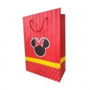 Bolsa de papel minnie vermelha 10 unidades