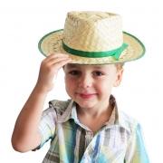 Chapéu de palha infantil malandrinho festa junina