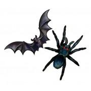 Enfeite de Halloween Morcego e Aranha - 12 unidades
