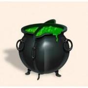 Enfeite Decorativo Caldeirão Halloween - 4 unidades