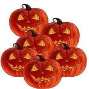 Enfeite Decorativo de  Halloween Abóbora - 6 unidades