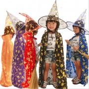 Fantasia Bruxinha Infantil - Kit capa + chapéu