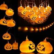 Fio De Luz Led Halloween Abóbora Dia Bruxas - 1 unidade