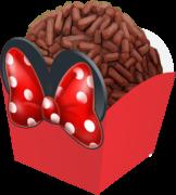 Forminha para docinho mini cachepô minnie vermelha laço -  24 unidades