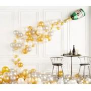 Balões arco desconstruído comemoração decoração Ano Novo