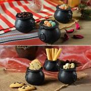 Mini Caldeirão de Bruxa Halloween Decorativo - 6 unidades