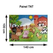 Painel Fazendinha tnt 1,4m X 1m