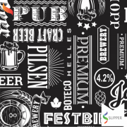 Tnt Estampado Boteco pilsen cerveja 1,4m X 2m