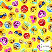 Tnt Estampado Emoji carinhas 1,4m X 2m