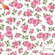 Tnt Estampado Floral Rosas 1,4m X 2m