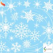 Tnt Estampado Frozen Flocos De Neve 1,4m X 2m