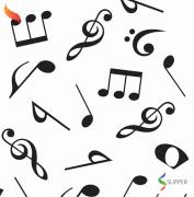 Tnt Estampado Notas Musicais 1,4m X 2m