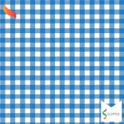 Tnt Estampado quadriculado xadrez azul 1,4m X 2m