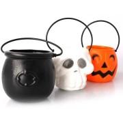 Trio de Mini Baldes Decorativos Halloween