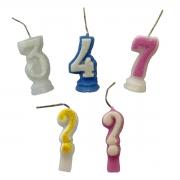Vela de aniversário número com glitter