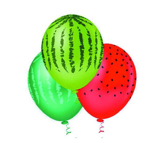 25 balão bexiga melancia tropical N 11