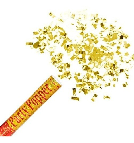 Lança Confete Dourado 30cm