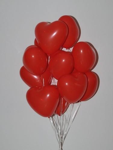 30 Bexiga Coração Vermelho tamanho 6