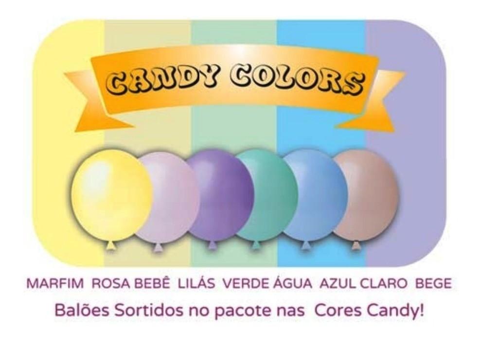 50 balão candy color sortido liso N 5