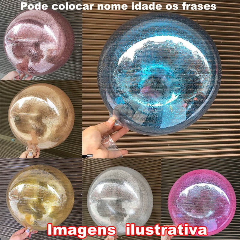 6 Glitter purpurina para bubble