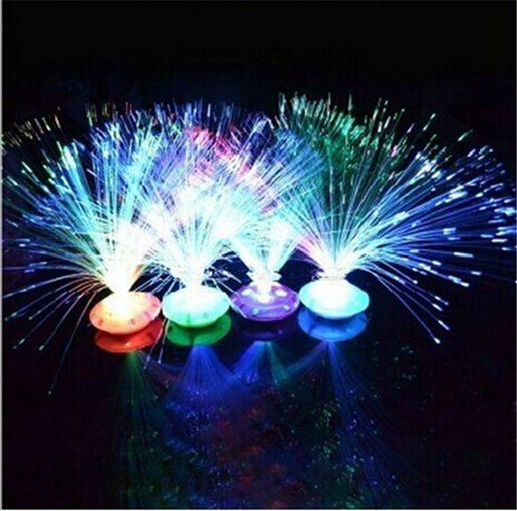 Abajur fibra ótica neon 5 unidades
