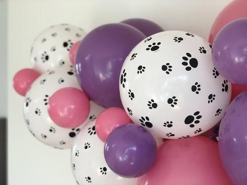 Balões Arco Desconstruído Patrulha Canina Rosa + Tira