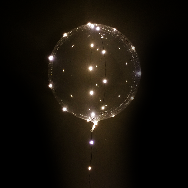 Balão Bubble Led Lâmpadas Dourada amarelo 18 polegadas - 45cm