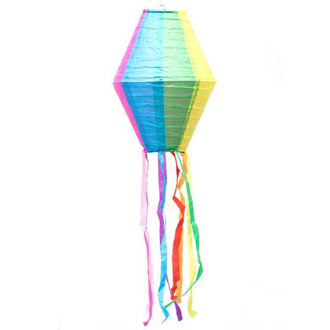 Balão Junino De Papel Com Rabicho 20x30cm