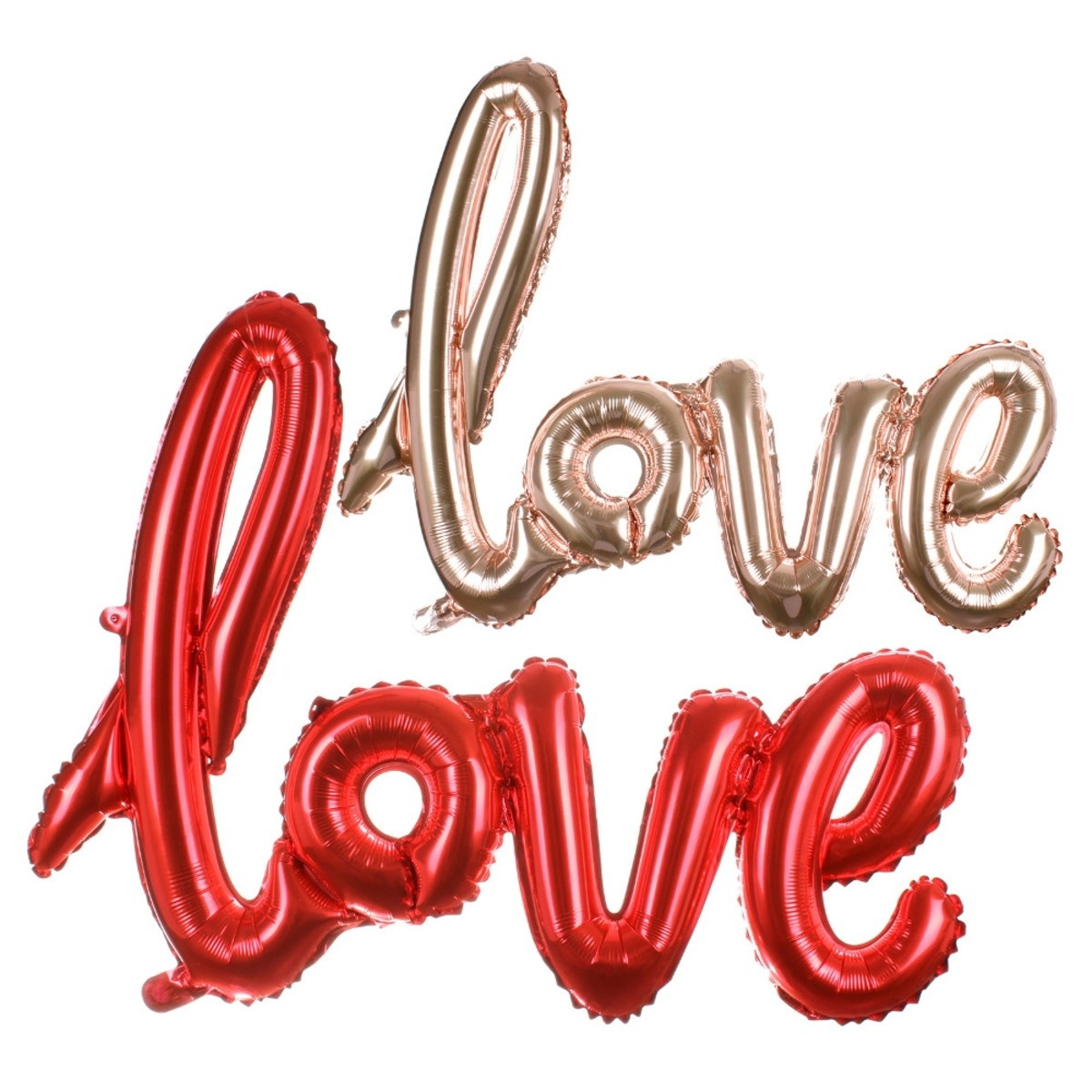 Balão metalizado love amor metalizado 1m