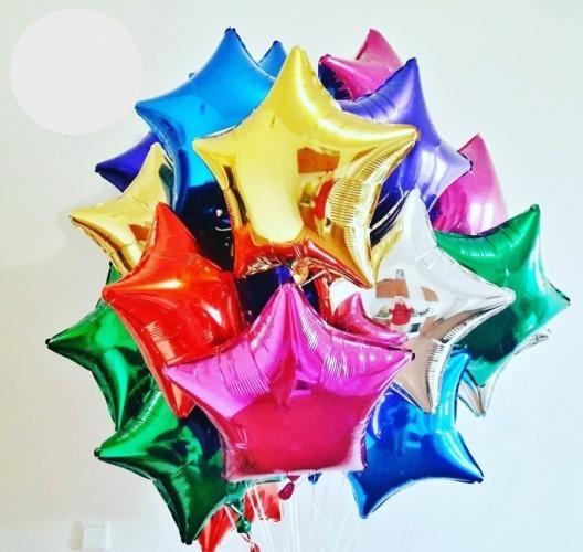 Balão Metalizado estrela grande 45cm
