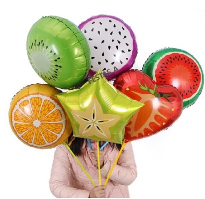 Balão metalizado fruta 45cm
