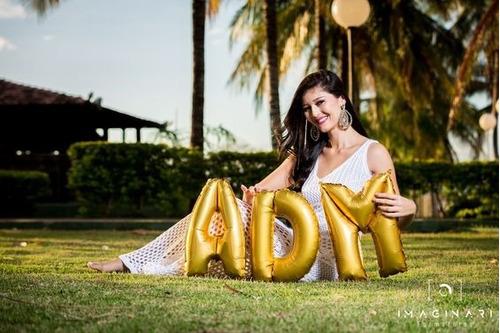 Balão Metalizado Letra Dourado 40cm