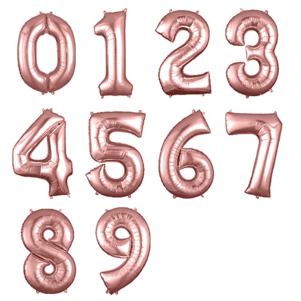 Balão Metalizado Número Rose Gold - 40cm