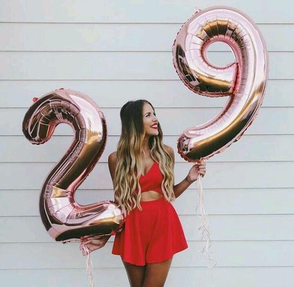 Balão Metalizado Número Rose Gold - 70cm