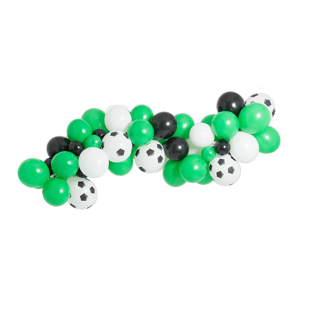 Kit Balões Arco Desconstruído Futebol Orgânico + Tira