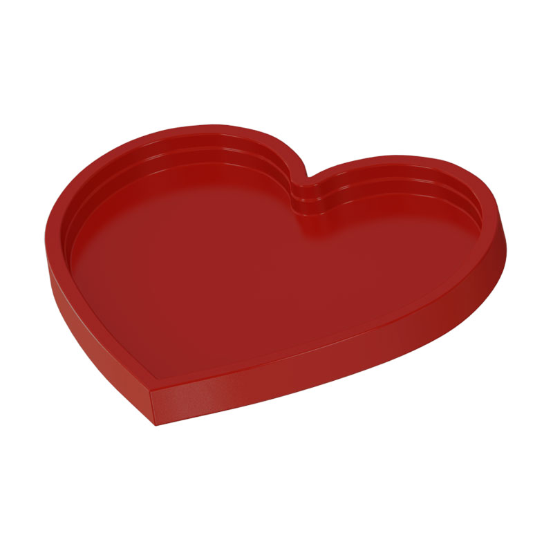 Bandeja coração decorativa 20x22cm