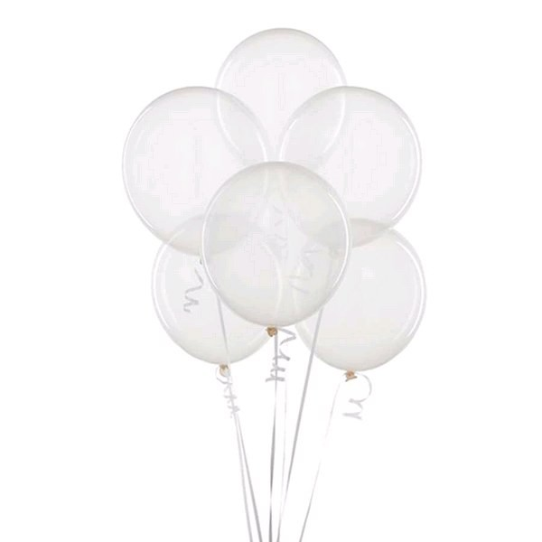 Balão Bexiga Cristal nº 5 - 50 unidades