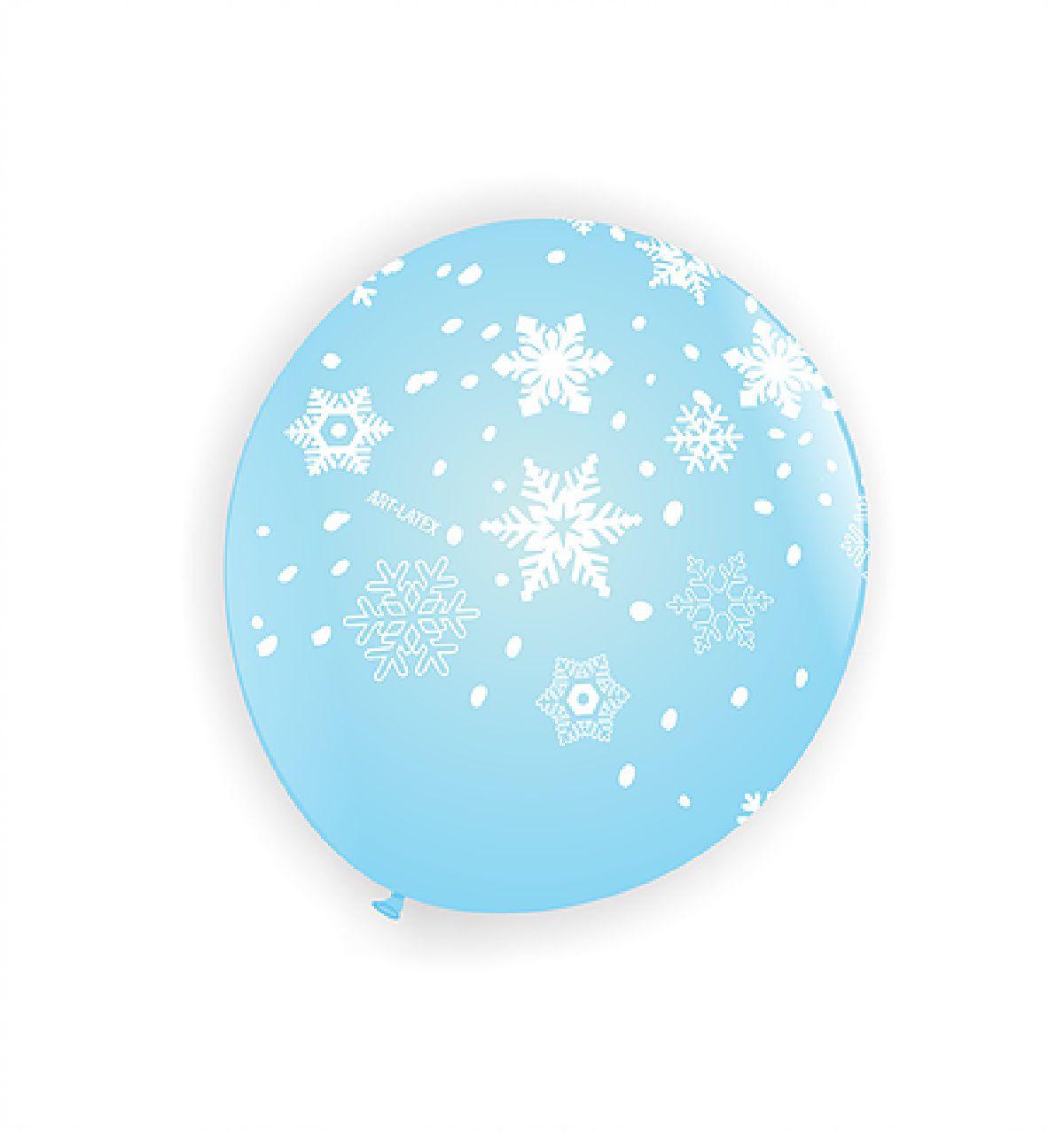 """26 balão Bexiga Flocos de Neve Frozen - 11"""" polegadas"""