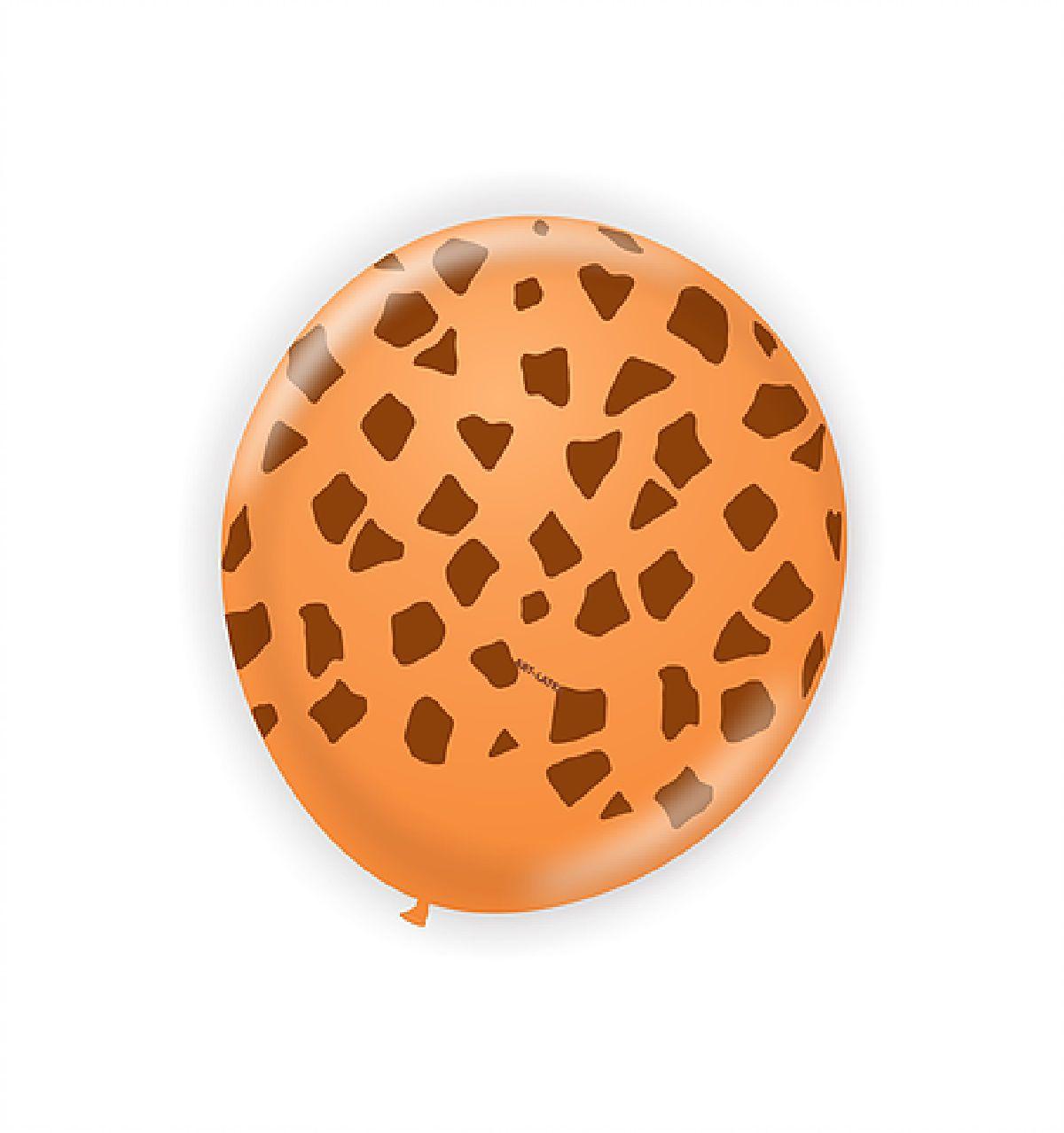 "25 Balão Bexiga Girafa Safari Tam 11"" polegadas"