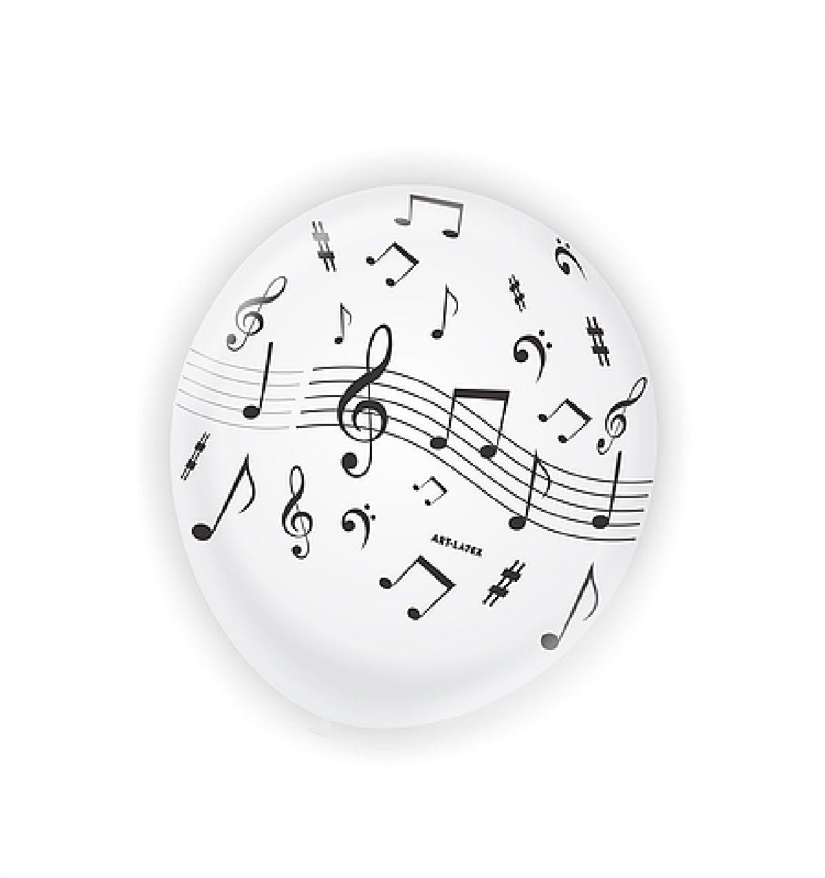 25 bexiga temática notas musicais n11