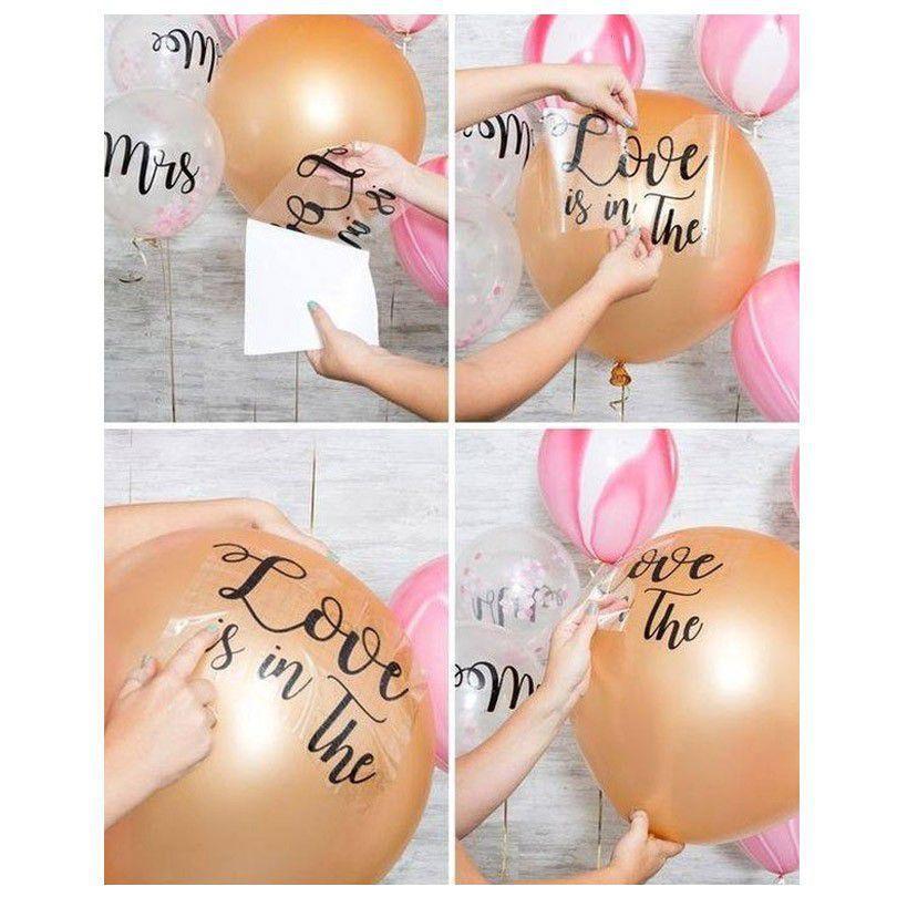Bubble balão 18 polegadas e adesivo com nome