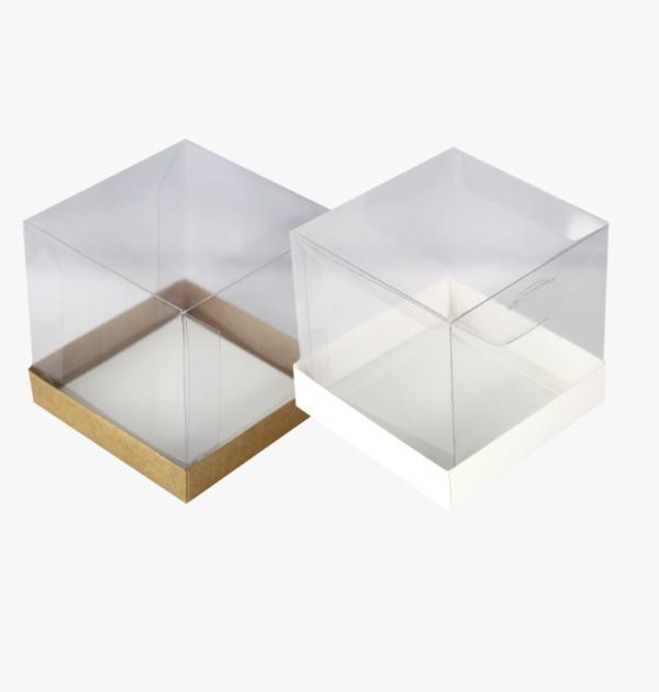 Caixa Mini Bolo M Kraft / Branco - 5 unidades
